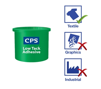 Low Tack Adhesive - GOTS approved water based adhesive